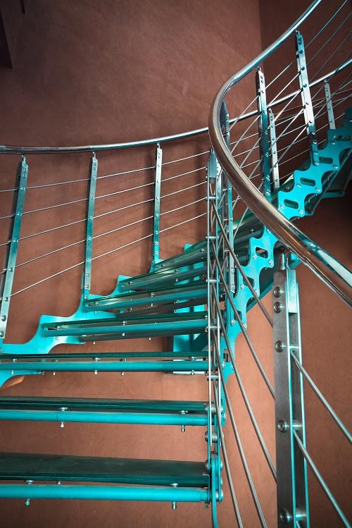escalier métallique à Lyon